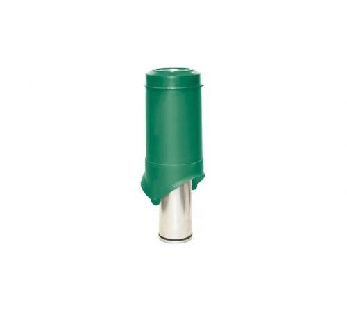 Выход вентиляции Pipe VT IS 125/изол/500 Krovent зеленый (RAL 6005)