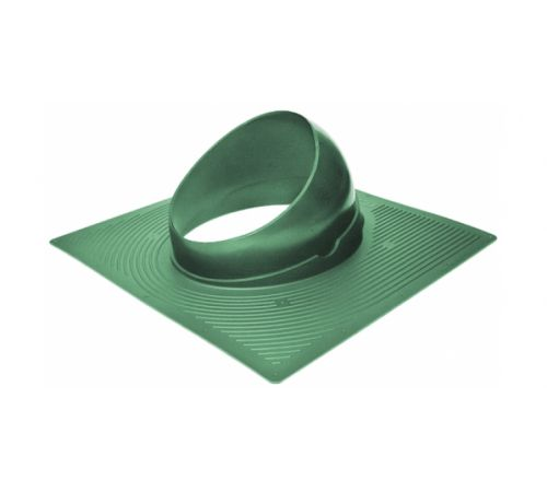 Основание вент. трубы для гиб. черепицы Base-VT 125/150 Krovent зеленый