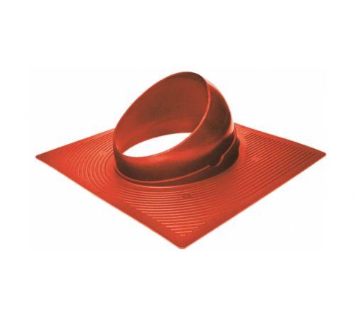 Основание вент. трубы для гиб. черепицы Base-VT 125/150 Krovent красный