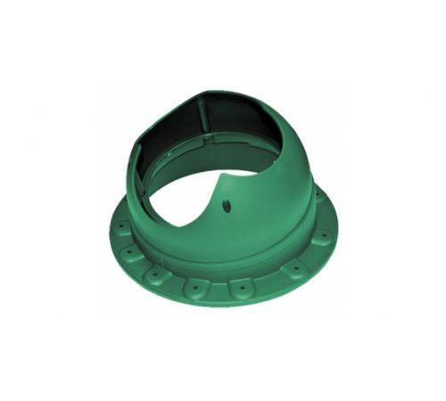 Основание вентиляционной трубы SEAM Base-VT Krovent  зеленый (RAL 6005)((для фальцевой и мягкой кровли)