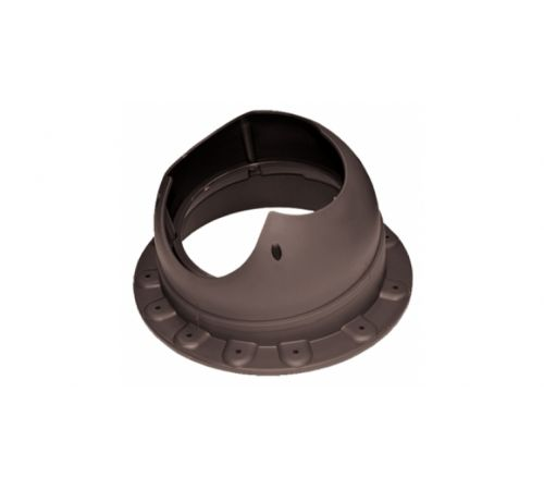 Основание вентиляционной трубы SEAM Base-VT Krovent  коричневый (RAL 8017)(для фальцевой и мягкой кровли)