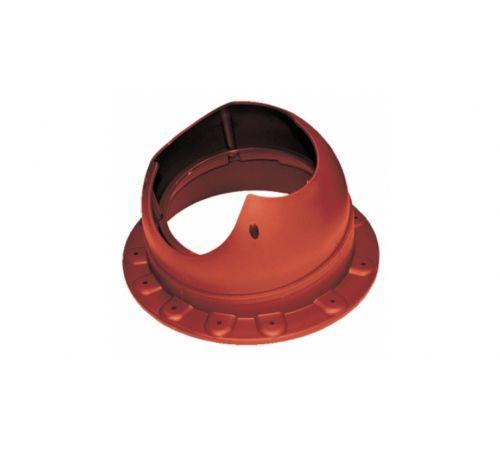 Основание вентиляционной трубы SEAM Base-VT Krovent  красный (RAL 3009)(для фальцевой и мягкой кровли)