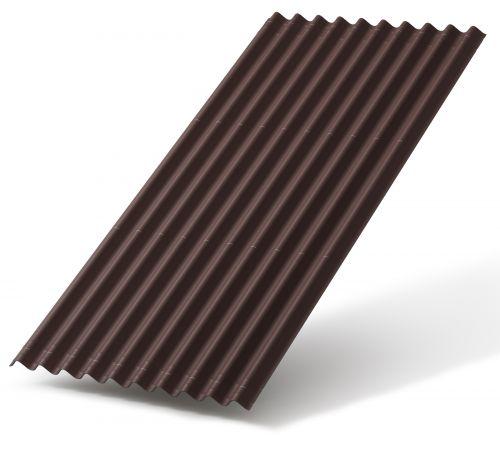 Битумный лист Ондулин SMART 0.95*1,95 м коричневый