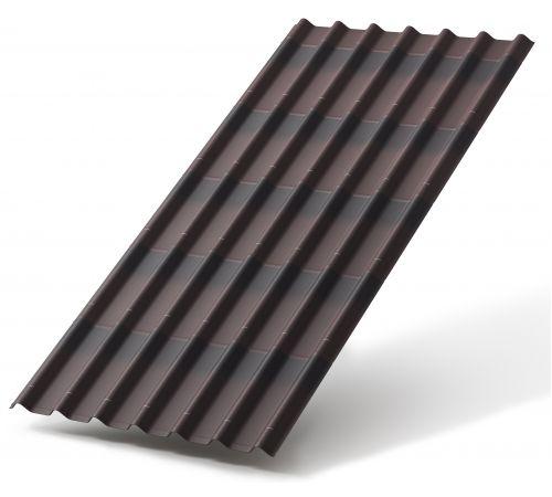 Черепица Ондулин коричневый 0.95*1.95м