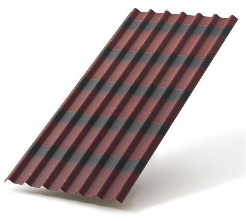 Черепица Ондулин красный 0.95*1.95м