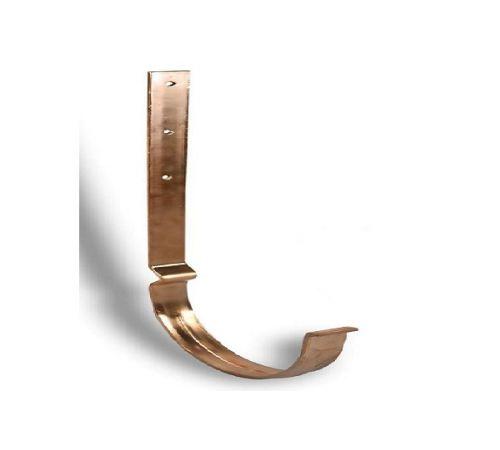 Крюк крепления желоба удлиненный упрощенный Zambelli  125 (медь)