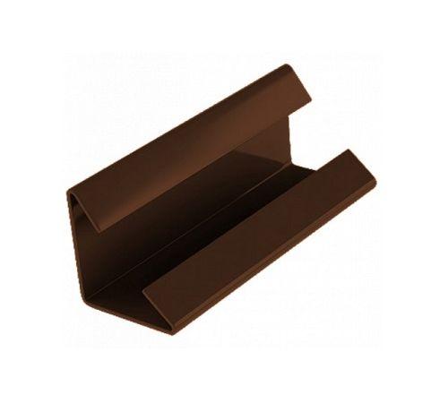 Соединительный зажим для снегозадерживающей решётки коричневый К