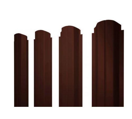Штакетник П-образный А фигурный 0,45 PE-Double RAL 8017 шоколад
