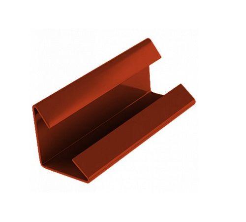 Соединительный зажим для снегозадерживающей решётки красный К