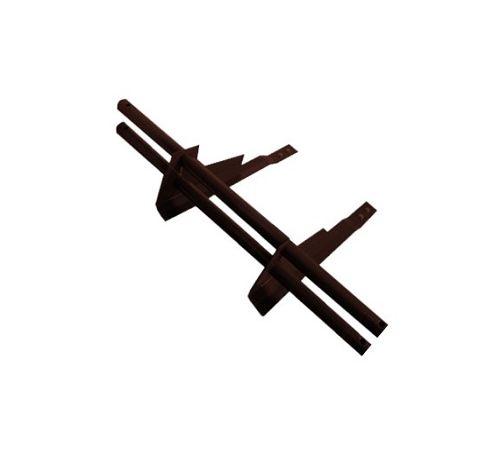 Универсальный  снегозадерживающий элемент д/черепицы,сталь коричневый