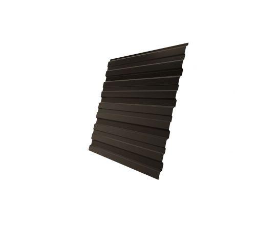 Профнастил С10В 0,5 Satin RR 32 темно-коричневый