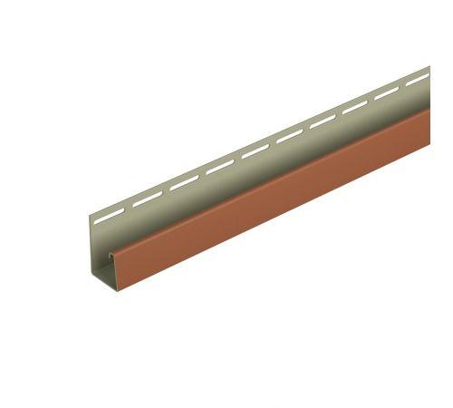 Фасадный J-профиль (каштановый) 3050 мм