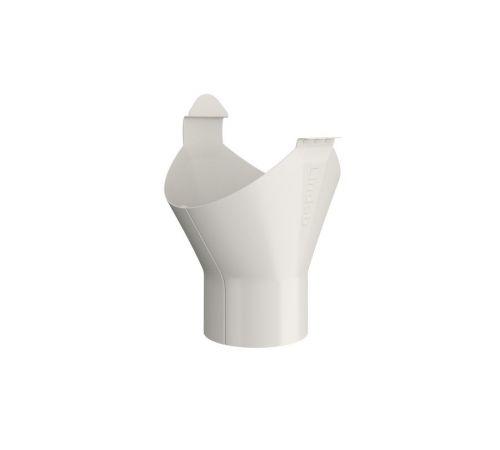 Выводное колено трубы Линдаб(Lindab) UTK D=87мм Цвет=белый (001)