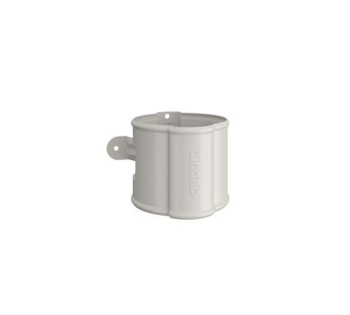 Крепление трубы (дерев. стена) Линдаб(Lindab) SSVH D=87мм Цвет=белый (001)