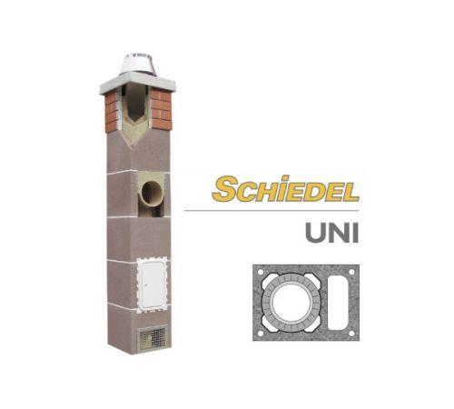 Комплект дымохода Шидель(SCHIDEL) UNI  D=14см одноходовой с вентканалом 4 п.м.