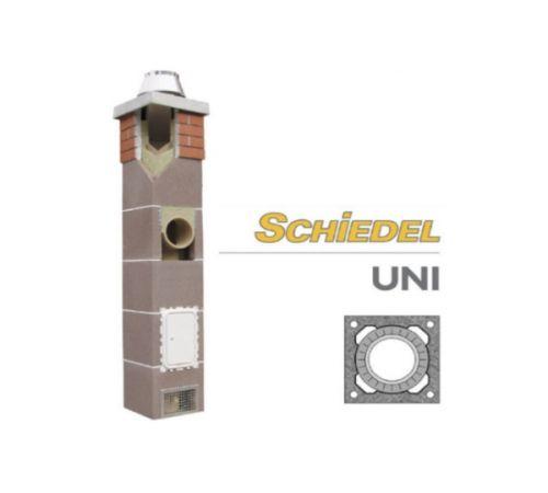 Комплект дымохода Шидель(SCHIDEL) UNI  D=14см одноходовой без вентканала 4 п.м.