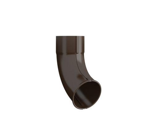 Выводное колено трубы  Линдаб (Lindab) UTK D=87мм Цвет=коричневый (434)