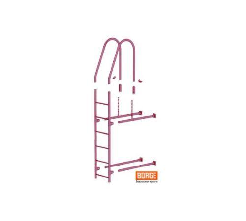 Комплект лестница фасадная BORGE верхняя секция 3,0м,  (RAL7024)