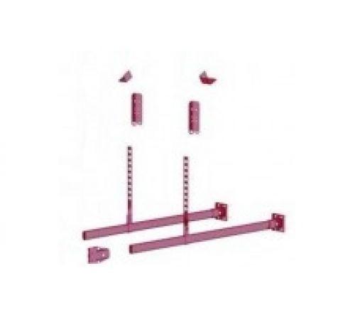Подвесной кронштейн для лестницы фасадной Борге (BORGE) ,темно красный (RR29)