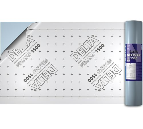 DELTA-NEOVAP 1500 самоклеящаяся пароизоляция с алюминиевой фольгой для плоских крыш