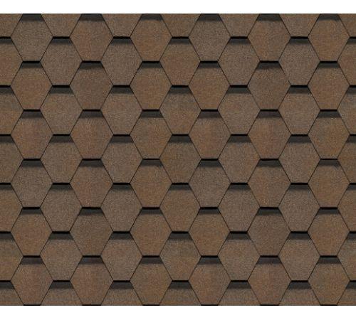 Гибкая черепица Docke PIE EUROPA коллекция KARAT  (3,0м2) цвет коричневый
