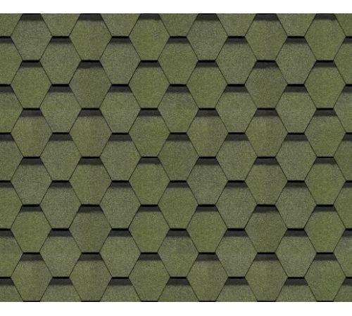 Гибкая черепица Docke PIE EUROPA коллекция KARAT  (3,0м2) цвет зеленый