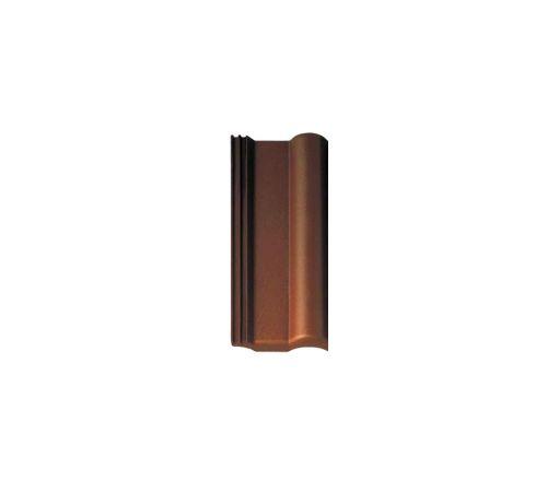 5102232 Половинчатая чер.ФП т-коричневая Кр BRAAS