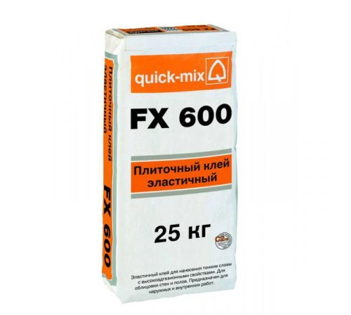 Плиточный клей,эластичный FX600 (C2TE), 25 кг 72340