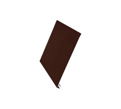J-фаска Aquasystem Сталь оцинкованная (0,45мм) с полимерным покрытием Polyester, цвет 8017, 150x2000