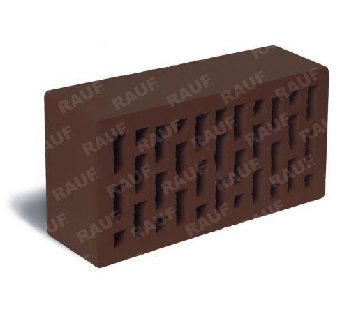 Кирпич лицевой темно-коричневый гладкий М-150 250х120х65 (Победа)