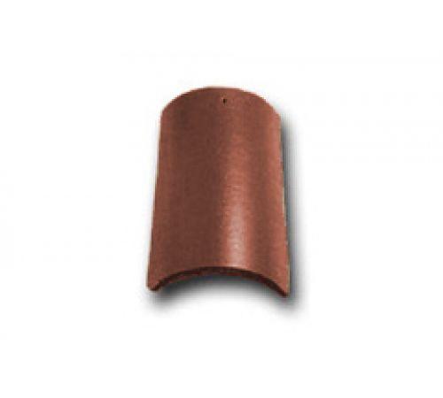 Коньковая черепица с зажимом коричневый 022