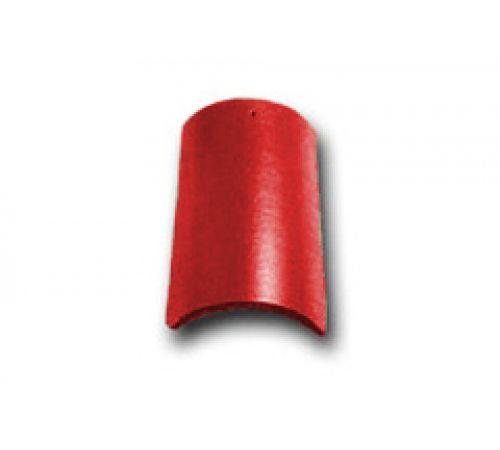 Коньковая черепица с зажимом красный 026