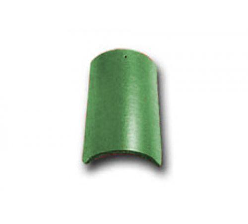 Коньковая черепица с зажимом зеленый 023