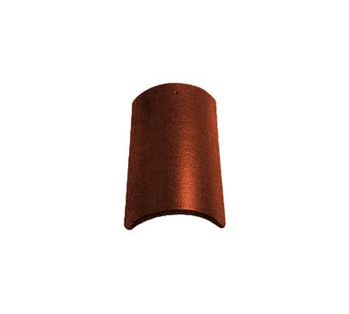 Центральная коньковая чер.Опал глазурь каштан BRAAS