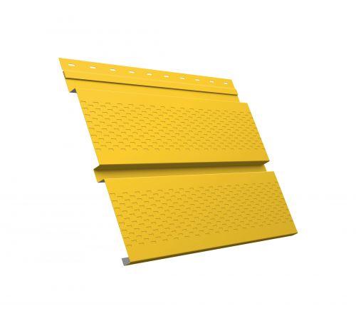 Металлический софит Квадро брус с перфорацией 0,45 PE RAL 1018 цинково-желтый
