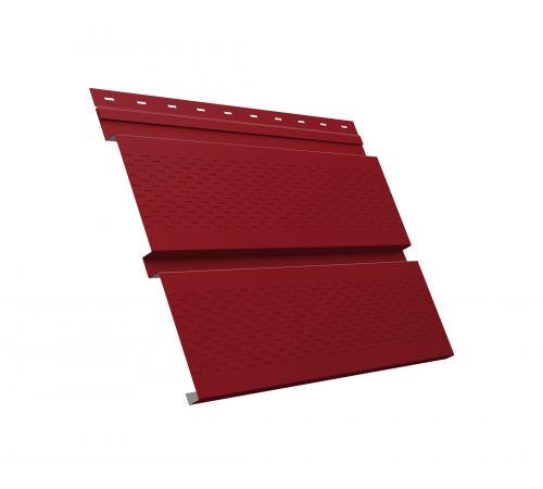 Металлический софит Квадро брус с перфорацией 0,45 PE RAL 3003 рубиново-красный