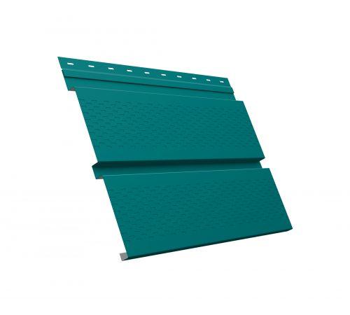 Металлический софит Квадро брус с перфорацией 0,45 PE RAL 5021 водная синь