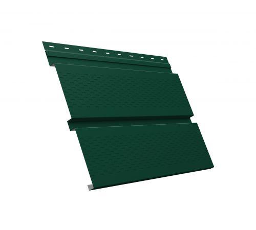 Металлический софит Квадро брус с перфорацией 0,45 PE RAL 6005 зеленый мох