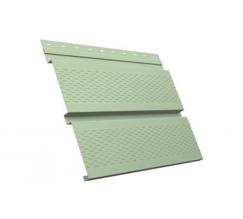 Металлический софит Квадро брус с перфорацией 0,45 PE RAL 6019 бело-зеленый