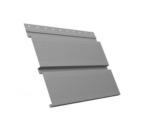 Металлический софит Квадро брус с перфорацией 0,45 PE RAL 7004 сигнальный серый