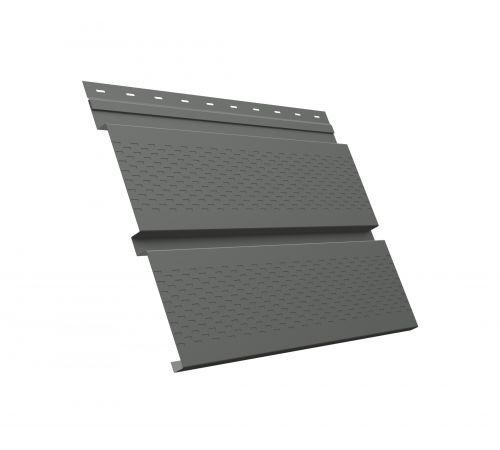 Металлический софит Квадро брус с перфорацией 0,45 PE RAL 7005 мышино-серый