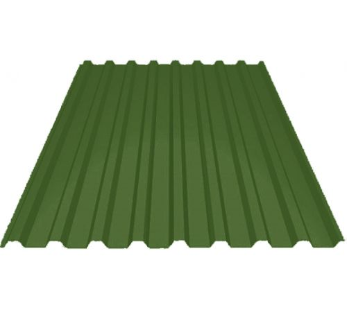 Профилированный лист МП-20 ширина 1100мм (0,45-01) полиэстер Цвет=зеленый лист (6002)