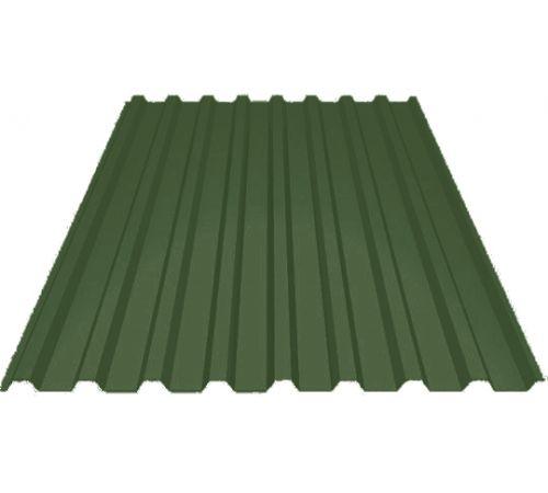 Профилированный лист МП-20 ширина 1100мм (0,4мм-01) полиэстер Цвет=зеленый мох (6005)