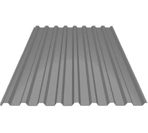 Профилированный лист МП-20 ширина 1100мм (0,4мм-01) полиэстр Цвет=серый сигнальный (7004)