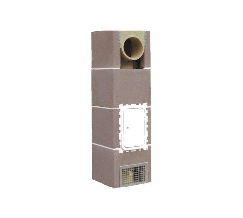 Основание дымохода Шидель (SCHIDEL) UNI D=20-L высота 3 пм одноходовой с вентиляционным каналом