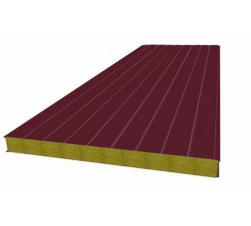 Сэндвич панель стеновая МП 100 RAL 3005/9003 0,5/0,5 мм, ширина 1200 мм