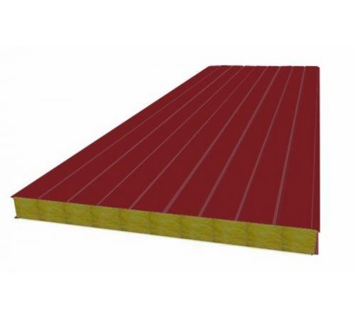 Сэндвич панель стеновая МП 100 RAL 3011/9003 0,5/0,5 мм, ширина 1200 мм