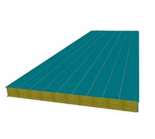 Сэндвич панель стеновая МП 100 RAL 5021/9003 0,5/0,5 мм, ширина 1200 мм