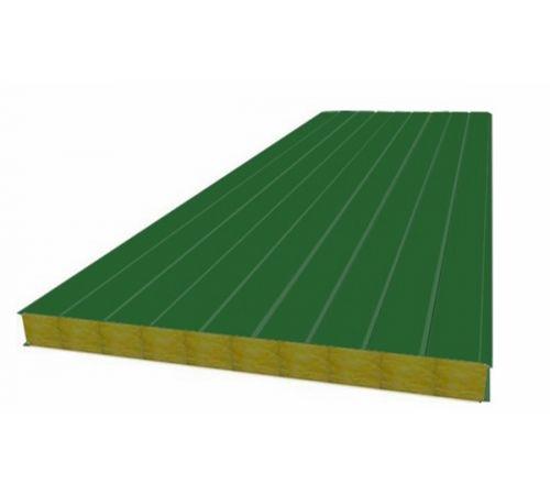 Сэндвич панель стеновая МП 100 RAL 6002/9003 0,5/0,5 мм, ширина 1200 мм