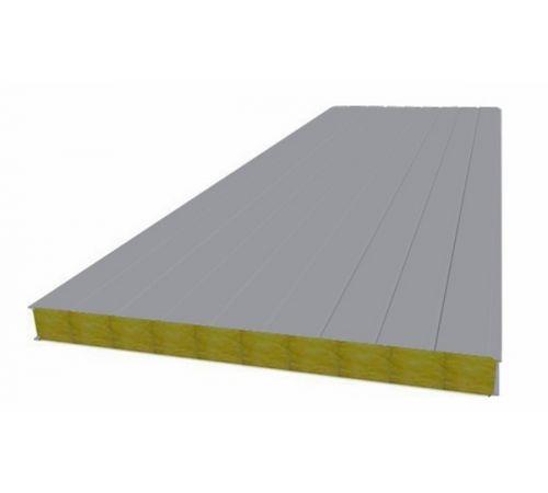 Сэндвич панель стеновая МП 100 RAL 7004/9003 0,5/0,5 мм, ширина 1200 мм